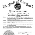 Maryland 2012 Proclamation