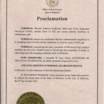 Missouri 2012 Proclamation