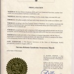 Mississippi 2012 Proclamation